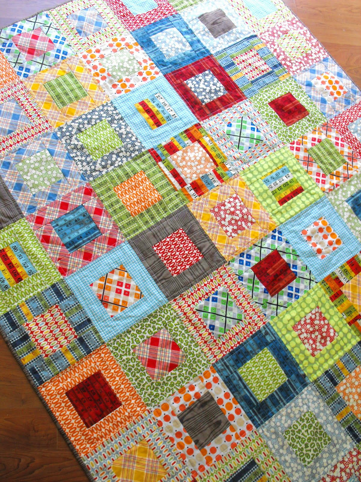 Quilt Patterns From Squares : Fussy Cut: Elijah s quilt - square in square