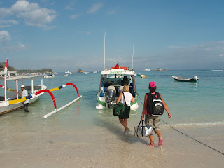 Scoot boat from Bali to Nusa Lembongan