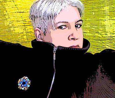 Liza Cowan in greef scarf January 2007