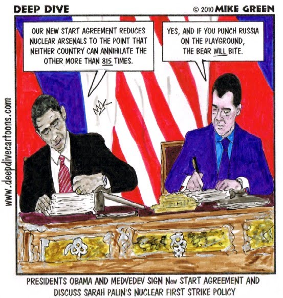 Deep Dive Cartoons By Mike Green 278 New Start Agreement Signed