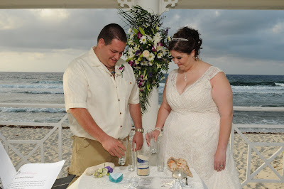 Sunset 'Cayman Sands' Wedding and Unity Sand Ceremony for Ohio couple - image 7