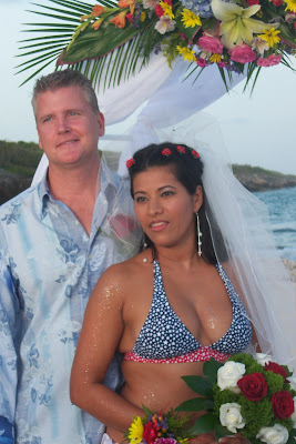 Bikini Bride at Grand Cayman Beach Wedding - image 7