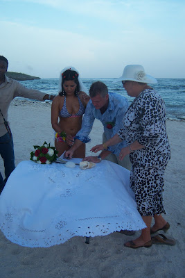 Bikini Bride at Grand Cayman Beach Wedding - image 6