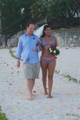 Bikini Bride at Grand Cayman Beach Wedding - image 4