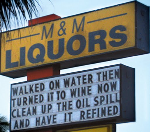 liquor store wisdom sign gulf coast