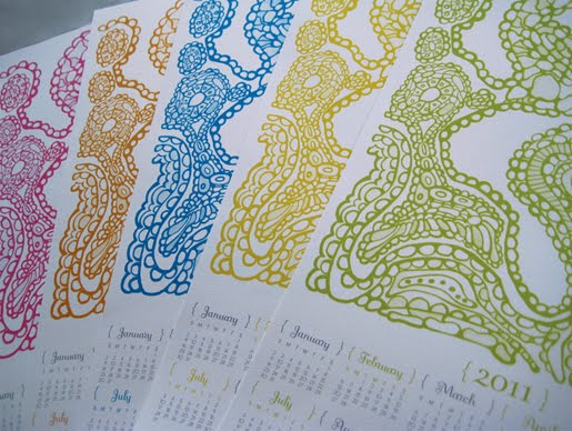 2011 Poster Calendar by Paper squid