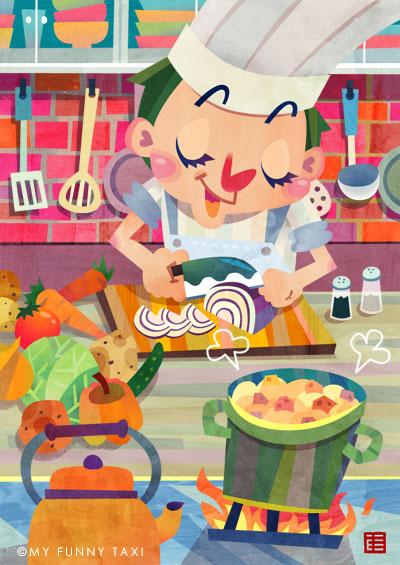 料理イラスト 男の料理
