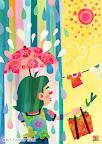 雨のイラスト 「ゲリラ豪雨」