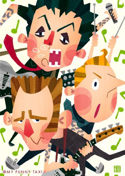 グリーンデイの似顔絵 Green Day Portrait