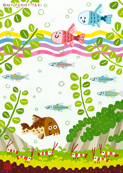 熱帯魚のイラスト Tropical fish illustration