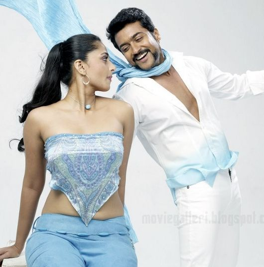 Surya and Anushka in their new movie singam