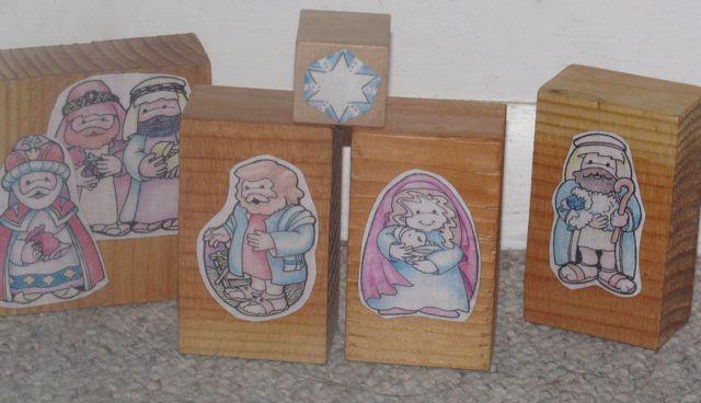 Do it yourself christmas nativity blocks the home teacher blocks sunother side star samuel the lamanite nephi angel solutioingenieria Choice Image