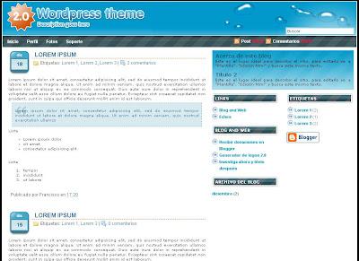 O2 2.0 Blogger Template