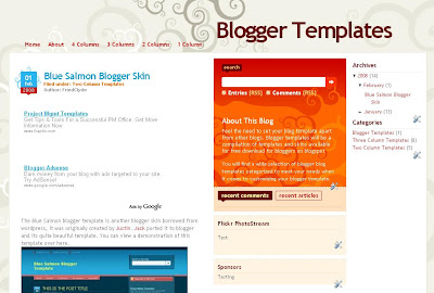 Dilectio Blogger Template