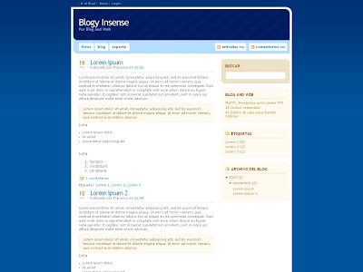 Insense Blogger Template