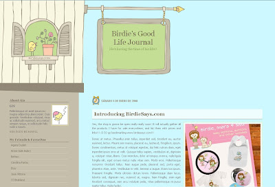 Birdies Good Life Blogger Skin