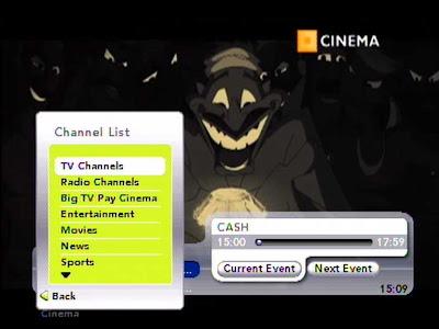 Big TV's Channel List