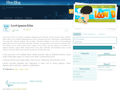 Blue Blog Blogger Skin