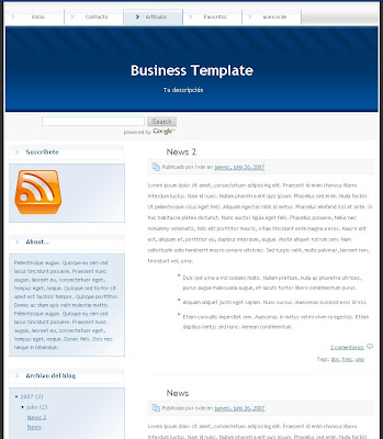Business Blogger Template