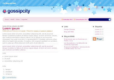 GossipCity Blogger Theme
