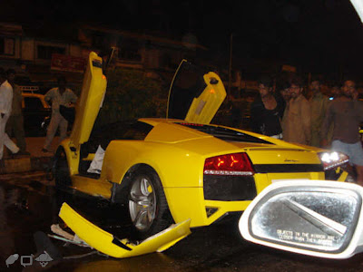 Lamborghini Accident in Mumbai