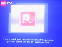 Big TV Check your Cable Connection