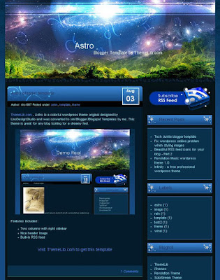 The Astro Blogger Template