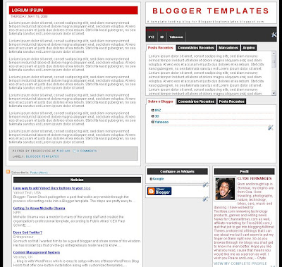 Tabs 01 Blogger Template