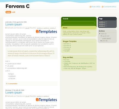 Fervens C Blogger Theme