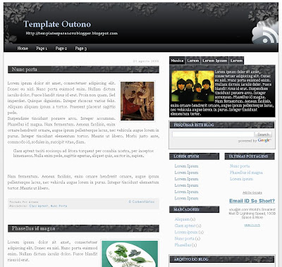 Theme The Outono Blogger Templates