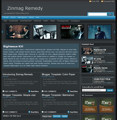 Zinmag Remedy Blogspot Theme
