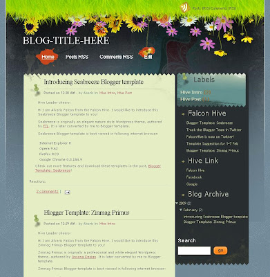 Sea Breeze Blogger Template