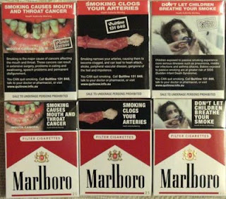 Health warning on cigarette packet