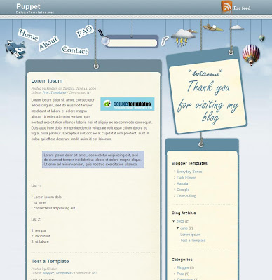 Puppet Blogger Template