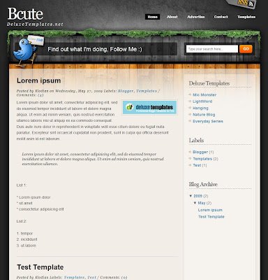 BCute Blogger Template