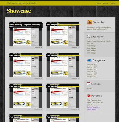 Showcase Blog Template