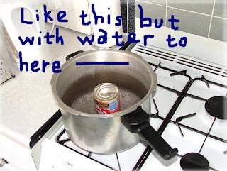 Simmering water