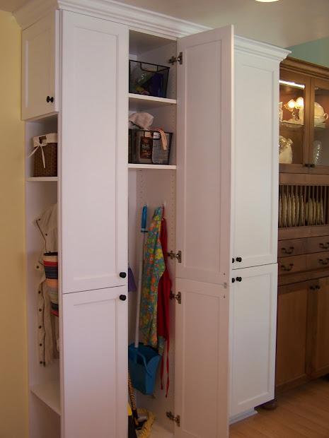 Pantry Broom Closet Storage Ideas