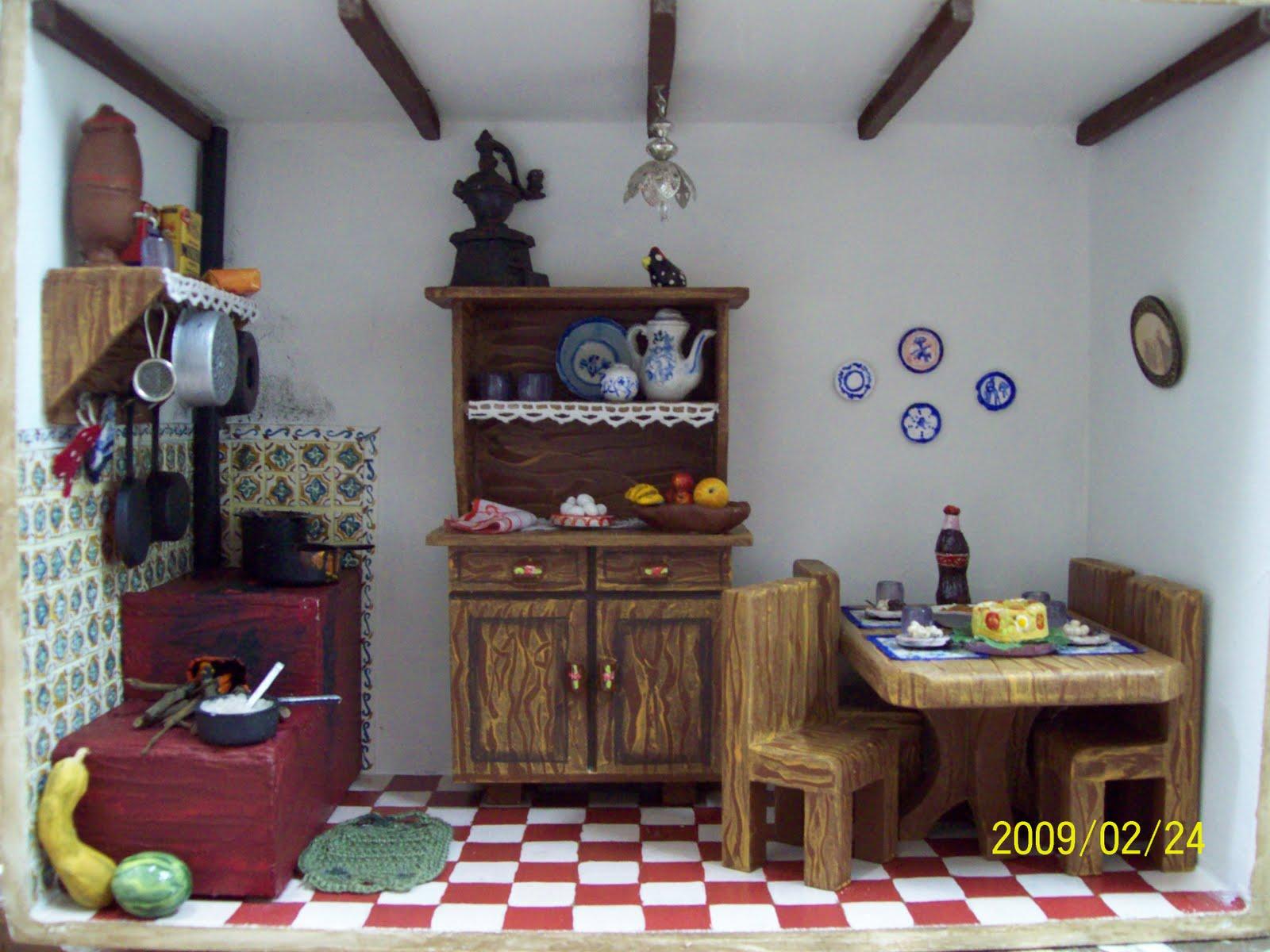 Aventura em Miniatura: Cozinha da fazenda Rose #894B42 1600 1200