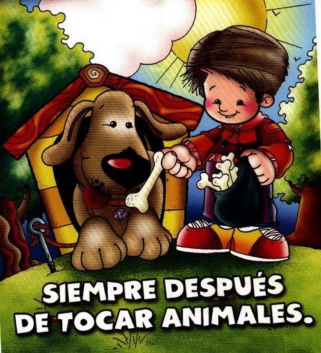 FICHAS DE HABITOS - LAVARSE LAS MANOS DESPUES DE TOCAR ANIMALES ...