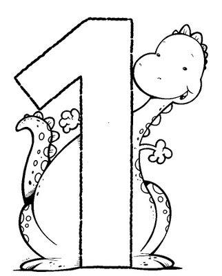Ejercicio: colorea el dibujo del número 1.