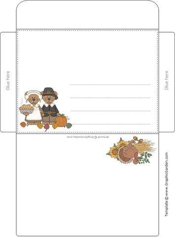 Chicos infantes sobre para carta de pareja de ositos para imprimir todo para peques - Sobre de navidad para imprimir ...