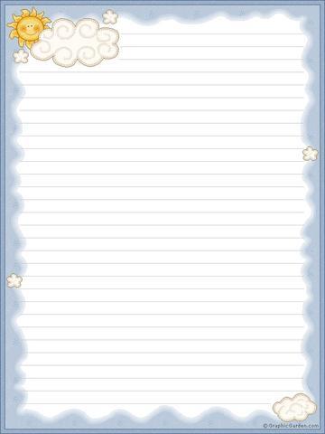 Chicos infantes papel de carta con rayas para escribir - Papel de pared de rayas ...