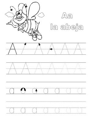 Ejercicio  Sigue Las Lineas De Puntos Para Formar Las Letras