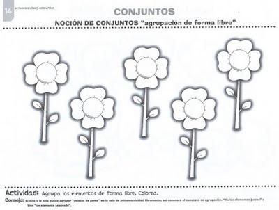 CONJUNTOS - AGRUPACIÓN DE FORMA LIBRE : FICHAS PARA NIÑOS