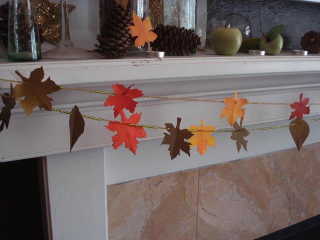 Renew redo diy thanksgiving decorations paper leaves garland