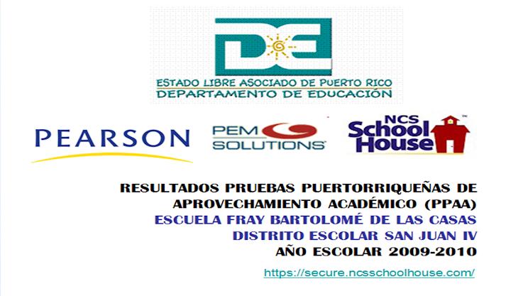 Resultados Pruebas Puertorriquenas de Aprovechamiento Académico 2010