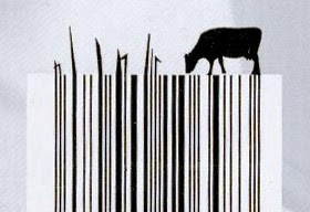 Código de barras con vaca