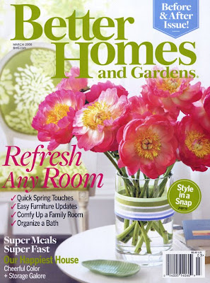 Reverie a free subscription or two to better homes and gardens March better homes and gardens