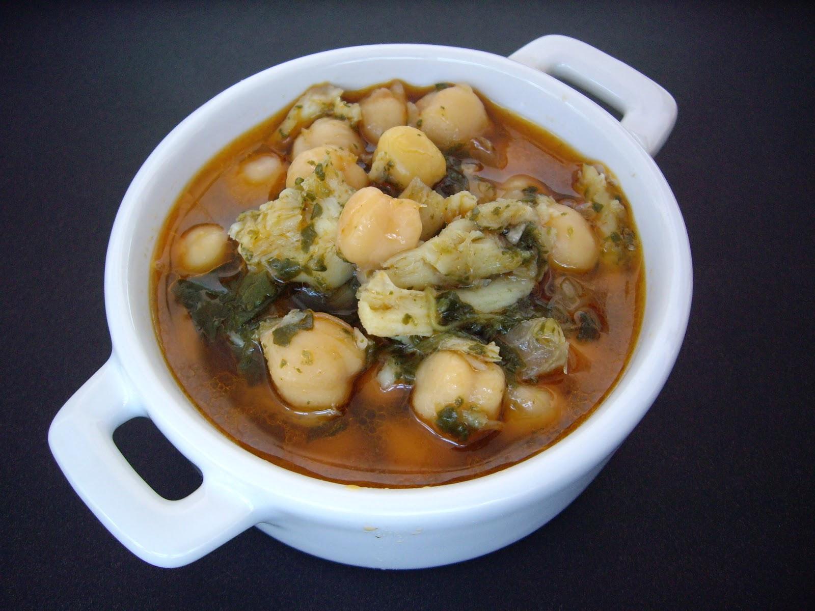 Potaje de bacalao garbanzos y espinacas recetas que - Garbanzos espinacas bacalao ...